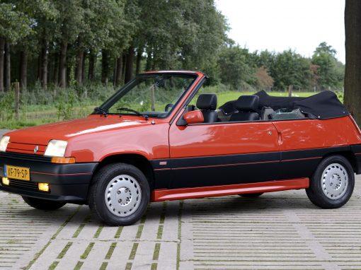 Renault 5 GTX EBS cabriolet – 45.000 km – 1989 – Verkocht